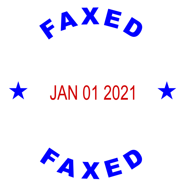 Custom Round Self-Inking Dater Faxed Stamp