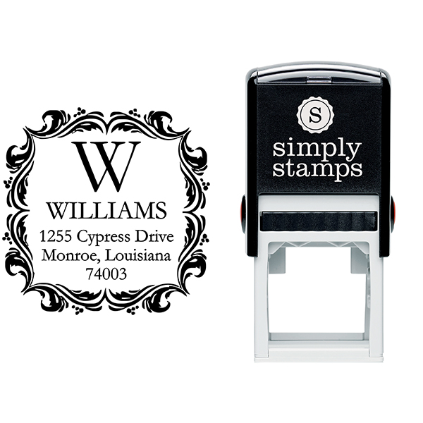 Ornament Border Return Address Stamp Stamp Body and Imprint
