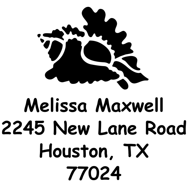 Conch Shell Custom Address Rubber Stamp