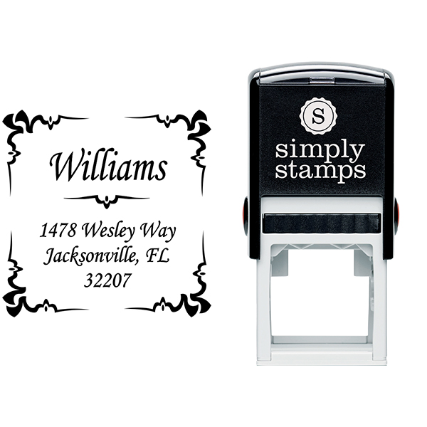 Square Deco Address Stamp Stamp Body and Imprint