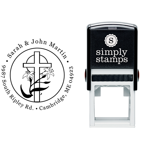 Lily Cross Address Stamp Body and Design