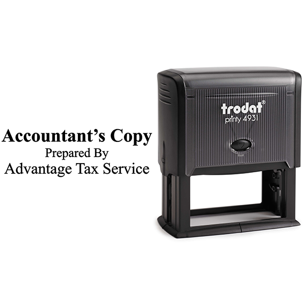 Account Copy Stamp Bold Body and Design