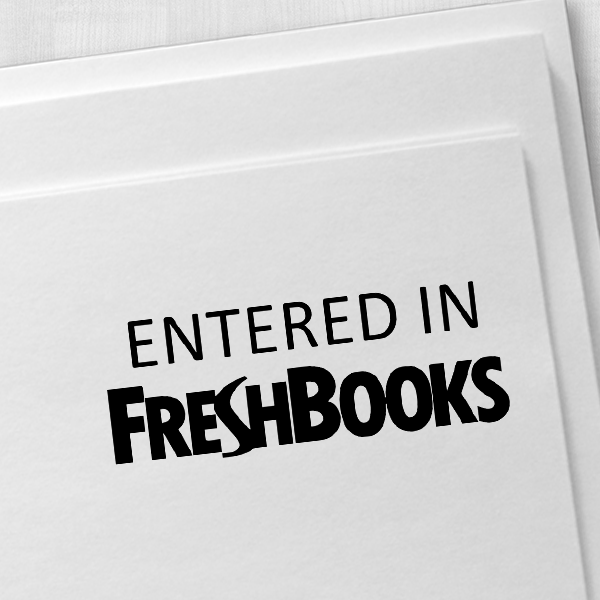 FreshBooks Stamp Imprint Example