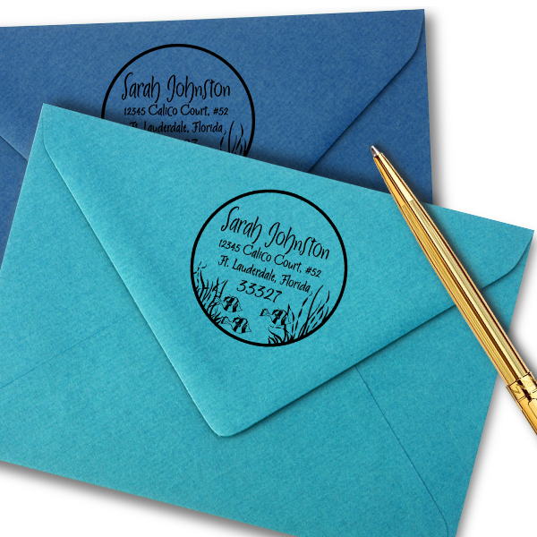 Fish in the Sea Return Address Stamp Imprint Example