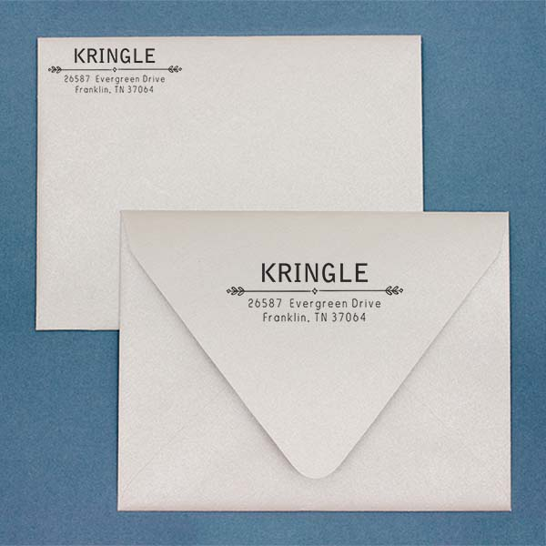 Kringle Diamond Deco Address Stamp Imprint Example