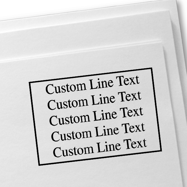 Customized 5 Line Postage Paid Stamp Imprint Example