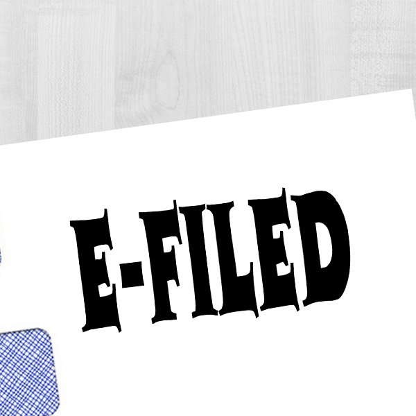 E-Filed Office Stock Stamp Imprint Example