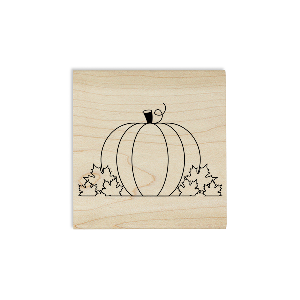 Pumpkin and Leaves Craft Stamp Body and Design