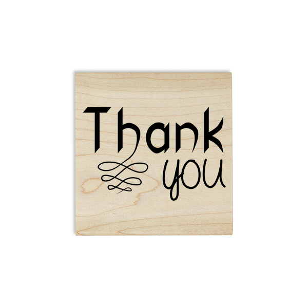 Thank you Fancy Craft Stamp Body and Design