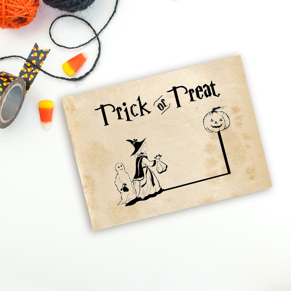 Trick or Treaters Craft Stamp Imprint Example