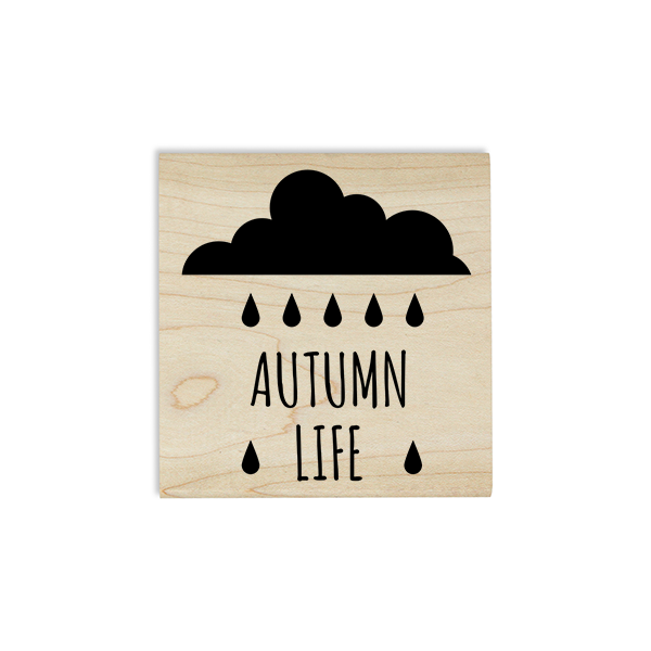 Autumn Life Rain Cloud Craft Stamp Body and Design