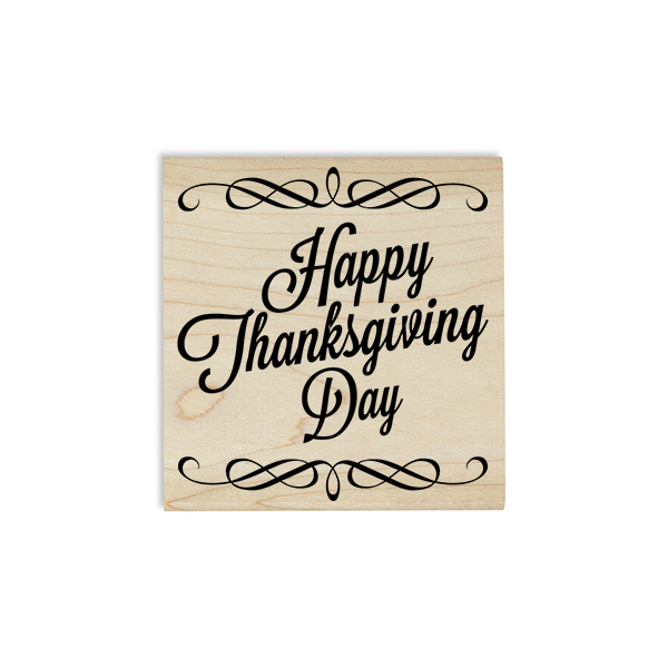 Vintage Happy Thanksgiving Craft Stamp Body and Design