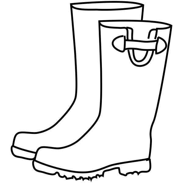 Rain Coloring Pages: Rain Boots Craft Stamp