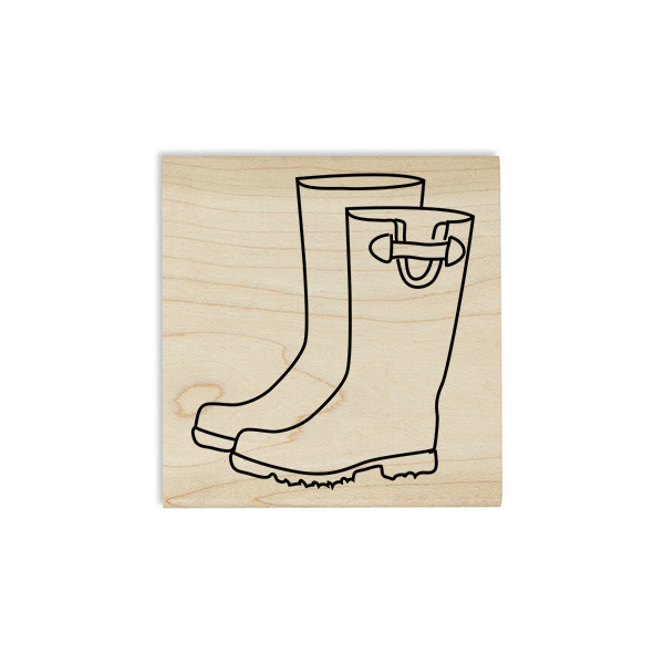 Rain Boots Craft Stamp Body and Design
