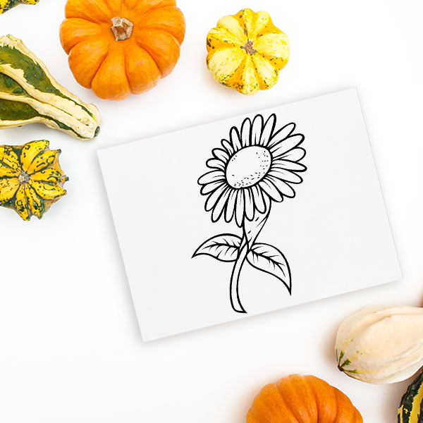 Sunflower Craft Stamp Imprint Example
