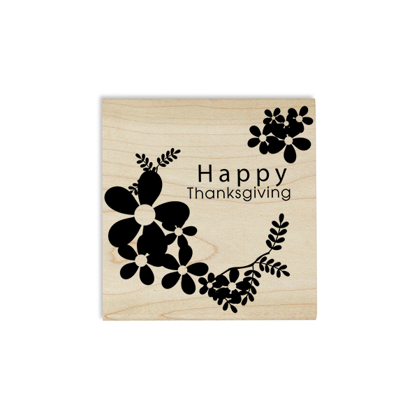 Happy Thanksgiving Daisies Craft Stamp Body and Design