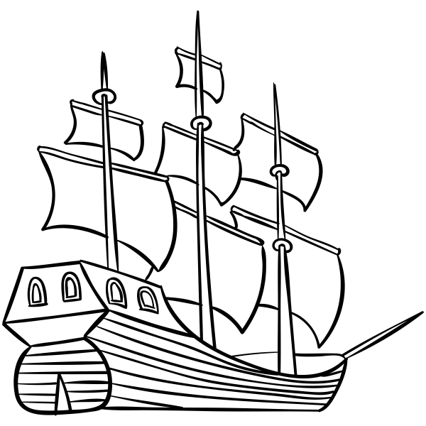 Mayflower Ship Craft Stamp