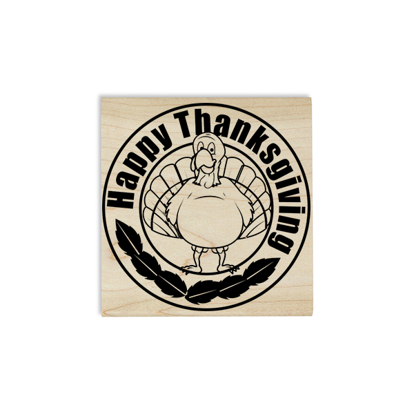 Happy Thanksgiving Gobbler Craft Stamp Body and Design
