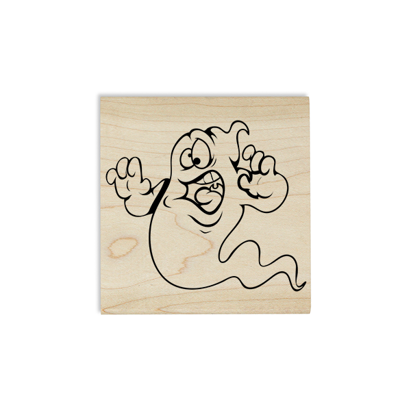 Goofy Ghost Craft Stamp Body and Design