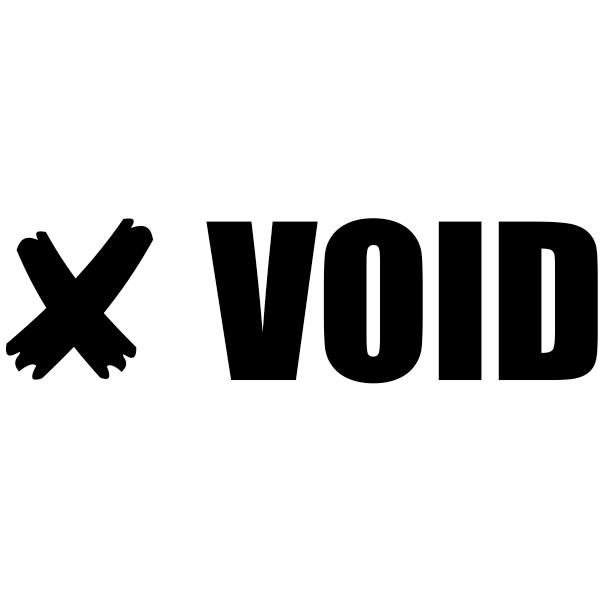 VOID X Stock Stamp