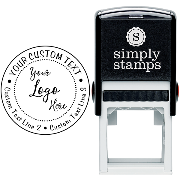 Your Custom Logo Round Stamp Body and Design