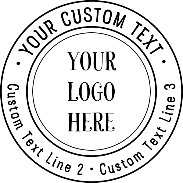 double ring custom logo round stamp