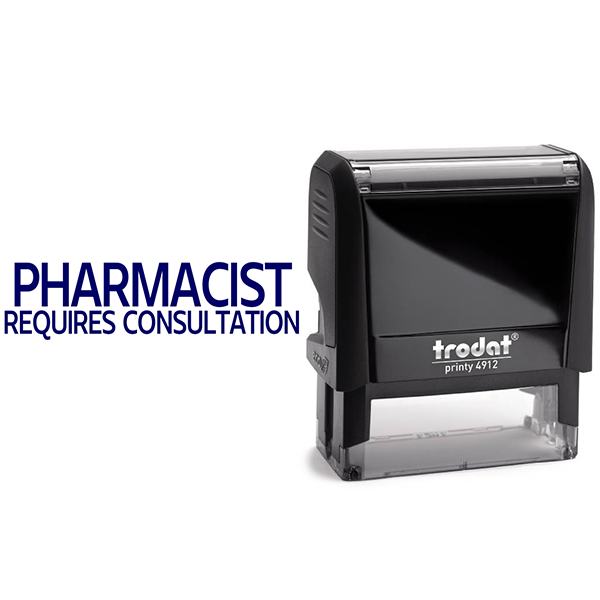 Pharmacist Requires Consultation Rubber Stamp Body and Design