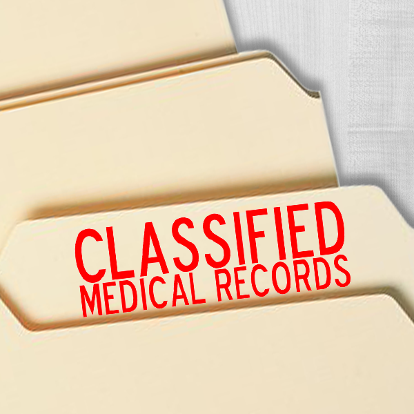 Classified Medical Records Imprint Example