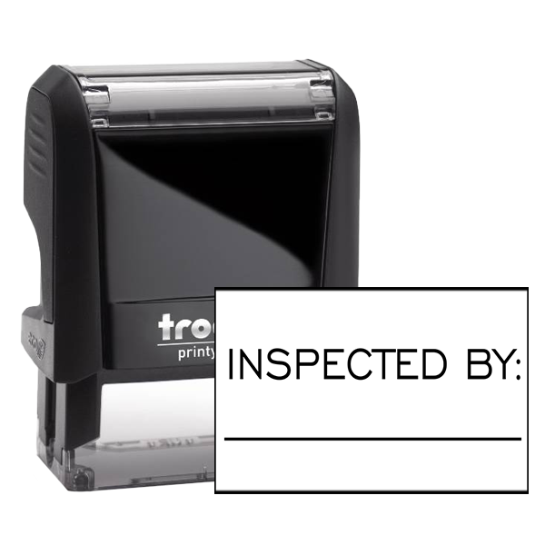 Inspected By Blank Line Rubber Stamp