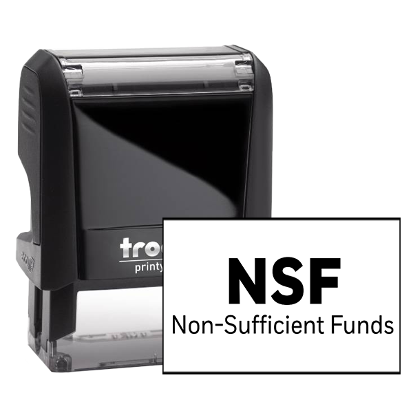 NSF Nonsufficient Funds Rubber Stamp
