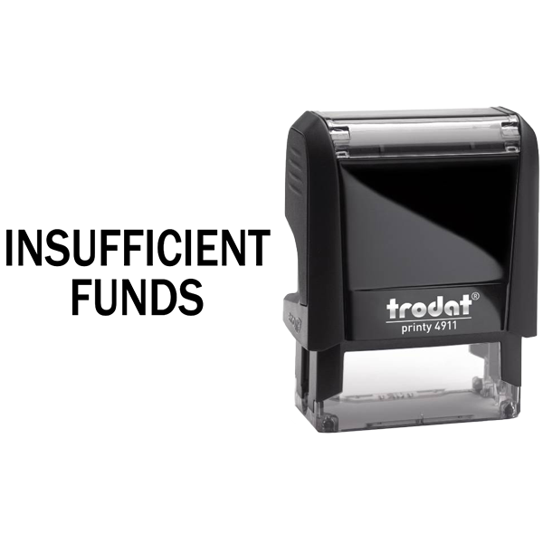 Insufficient Funds Rubber Stamp Body and Design