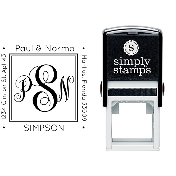 Simpson Square Address Stamp Body and Design