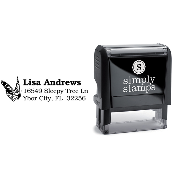 Monarch Butterfly Custom Address Stamp Body and Design