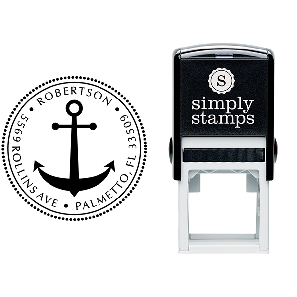 Anchor Round Address Stamp Body and Design - Self-Inking