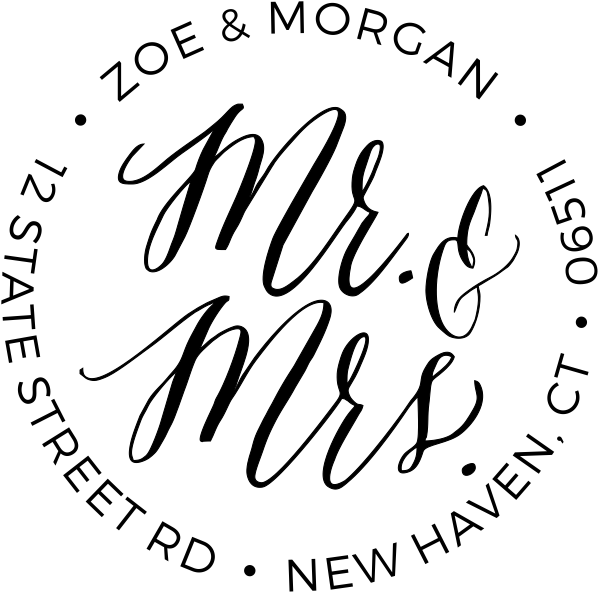 Bonnie Marcus Mr & Mrs Address Stamp