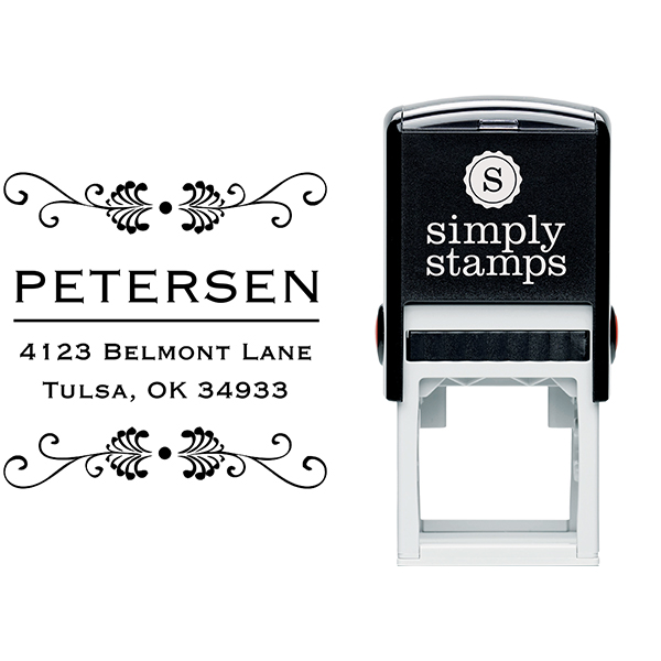Peterson Square Address Stamp Body and Design
