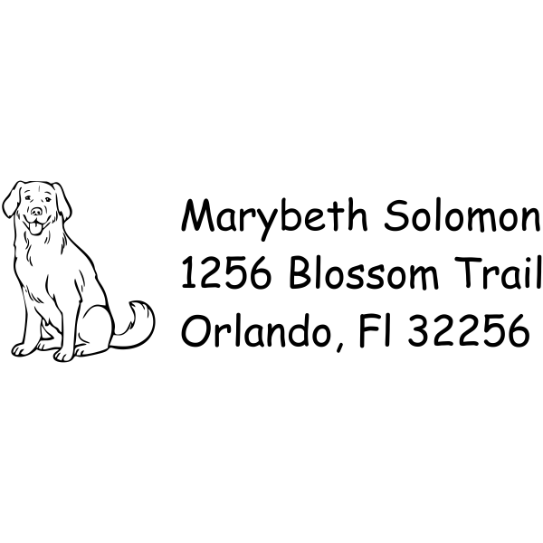 Labrador return address rubber stamp