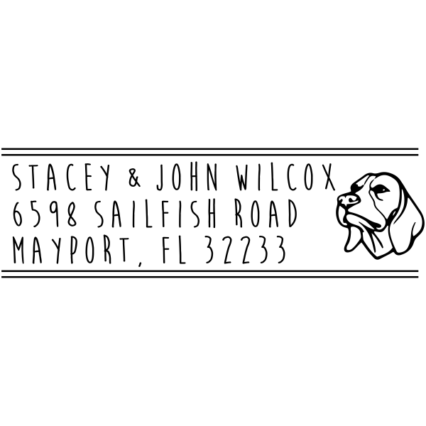 Foxhound Dog Address Stamp