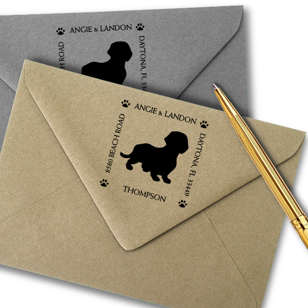 Dachshund Pet Lover Return Address Stamp Imprint Example