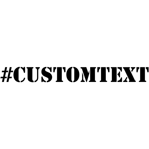 Custom Text # Hashtag Rubber Stamp