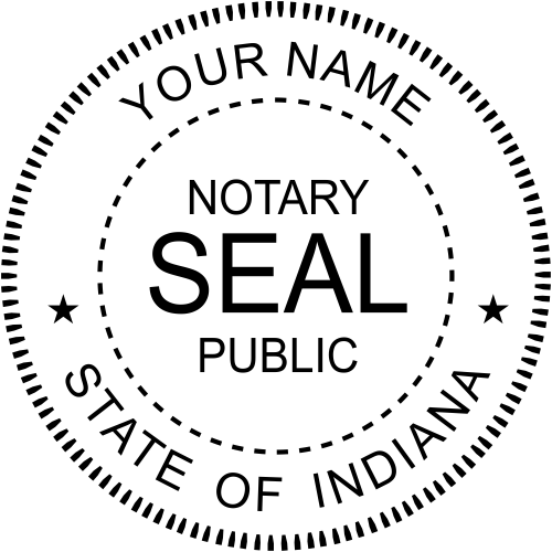 Indiana Notary Seal Stamp