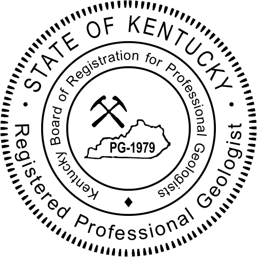 Kentucky Geologist Stamp Seal