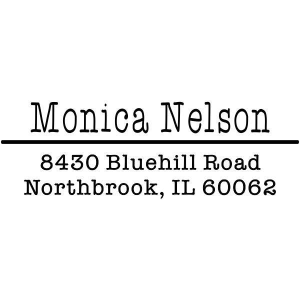 Nelson 3 Line Custom Address Stamper