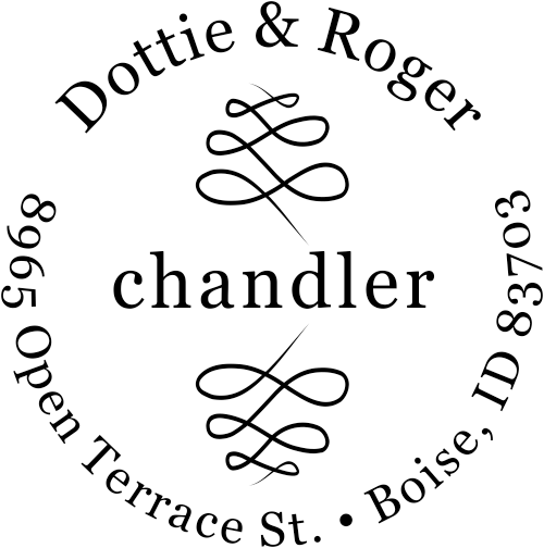 Chandler Double Deco Address Stamp