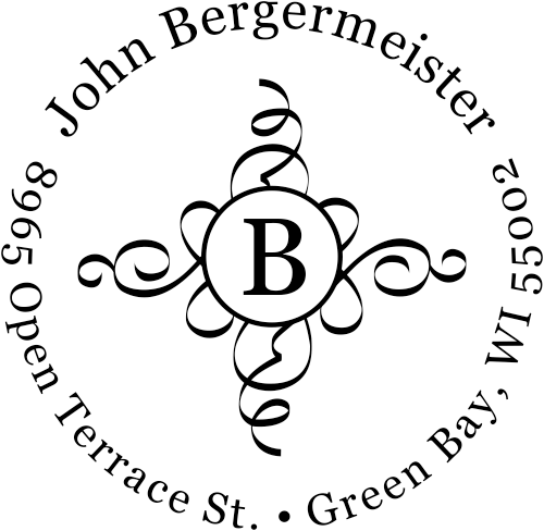 Bergermeister Deco Initial Address Stamp