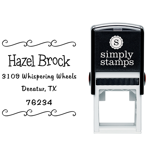 Brock Curly Q Address Stamp Body and Imprint