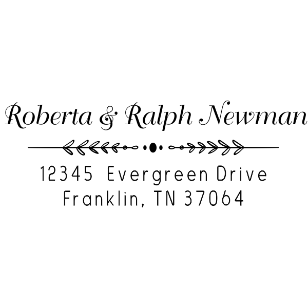 Newman Leafed Out Address Stamp