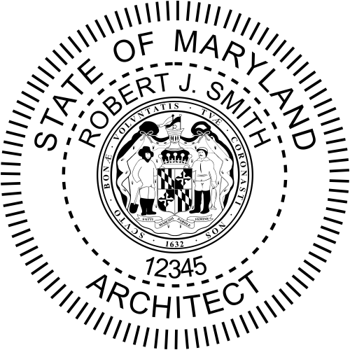 Maryland Architect Stamp Seal