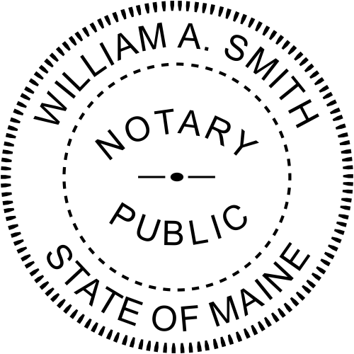 Maine Official Notary Seal Stamp