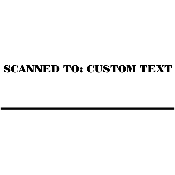 Custom Text Mobile Deposited Stamp